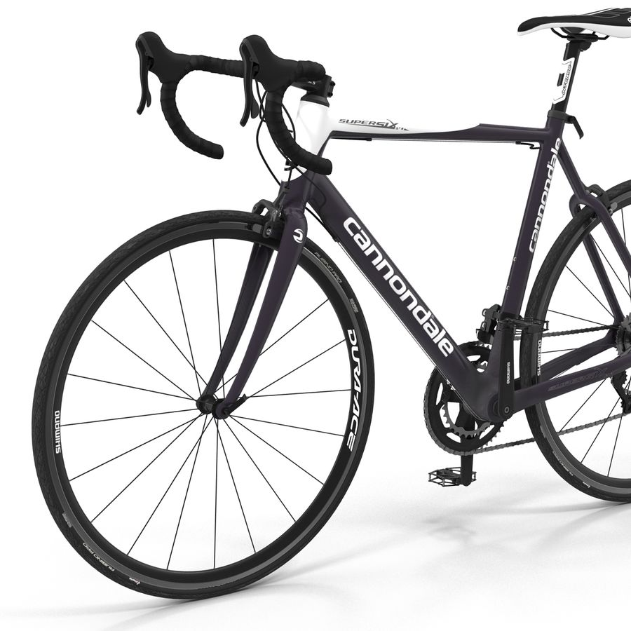 Road Bike Cannondale royalty-free 3d model - Preview no. 18