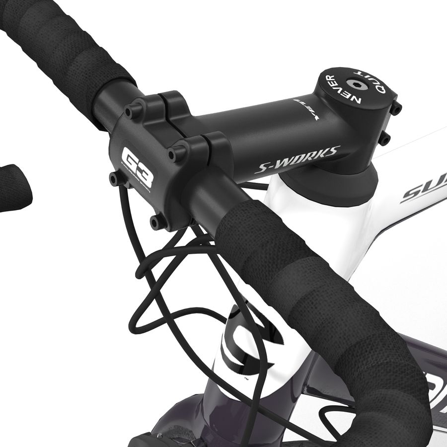 Road Bike Cannondale royalty-free 3d model - Preview no. 30