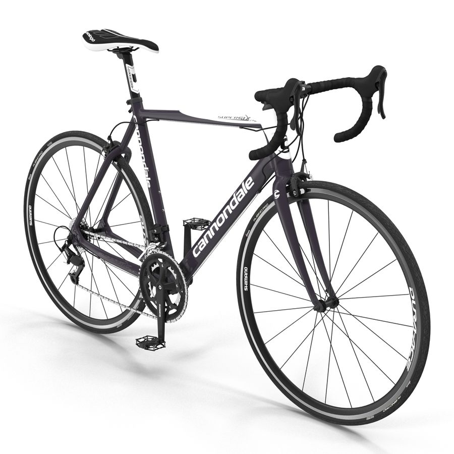 Road Bike Cannondale royalty-free 3d model - Preview no. 6