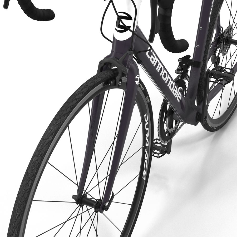 Road Bike Cannondale royalty-free 3d model - Preview no. 23