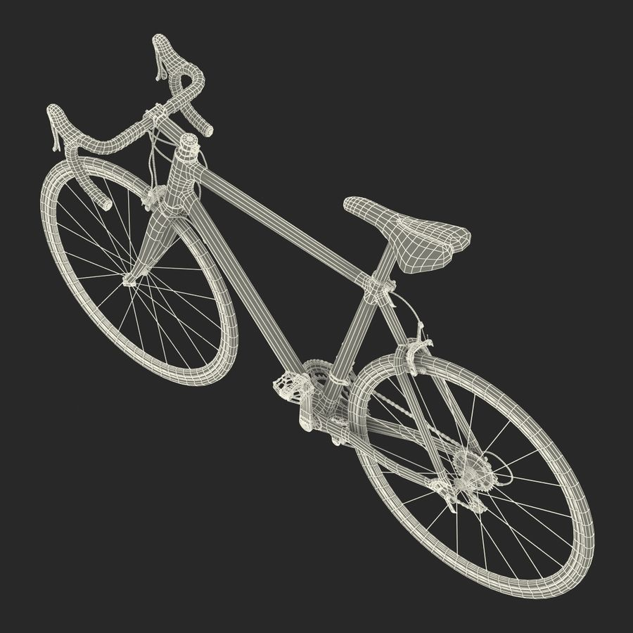 Road Bike Cannondale royalty-free 3d model - Preview no. 43
