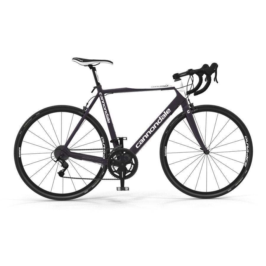 Road Bike Cannondale royalty-free 3d model - Preview no. 10