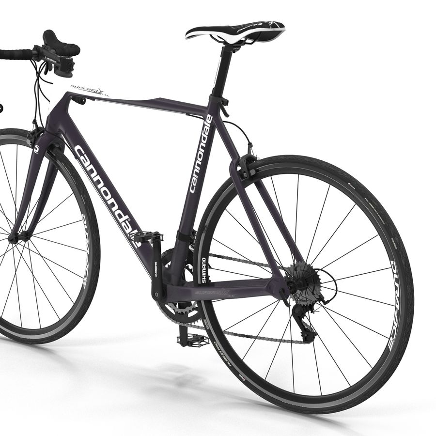 Road Bike Cannondale royalty-free 3d model - Preview no. 20
