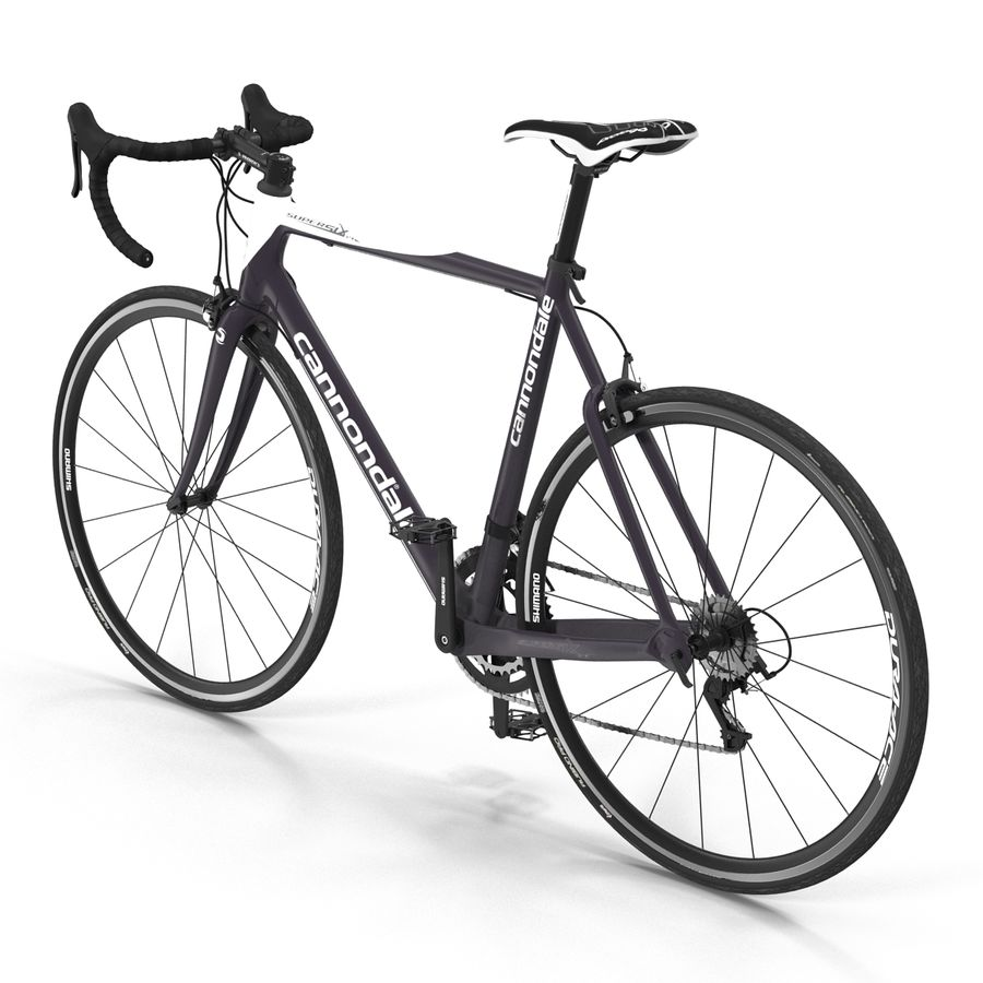 Road Bike Cannondale royalty-free 3d model - Preview no. 8