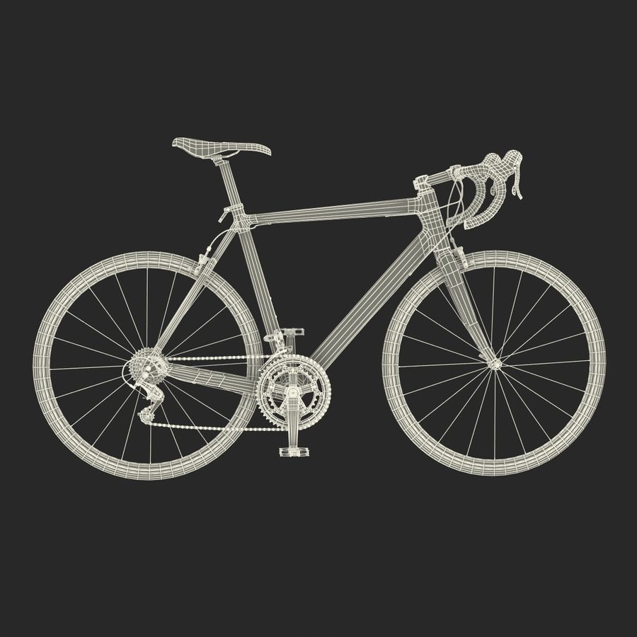 Road Bike Cannondale royalty-free 3d model - Preview no. 41