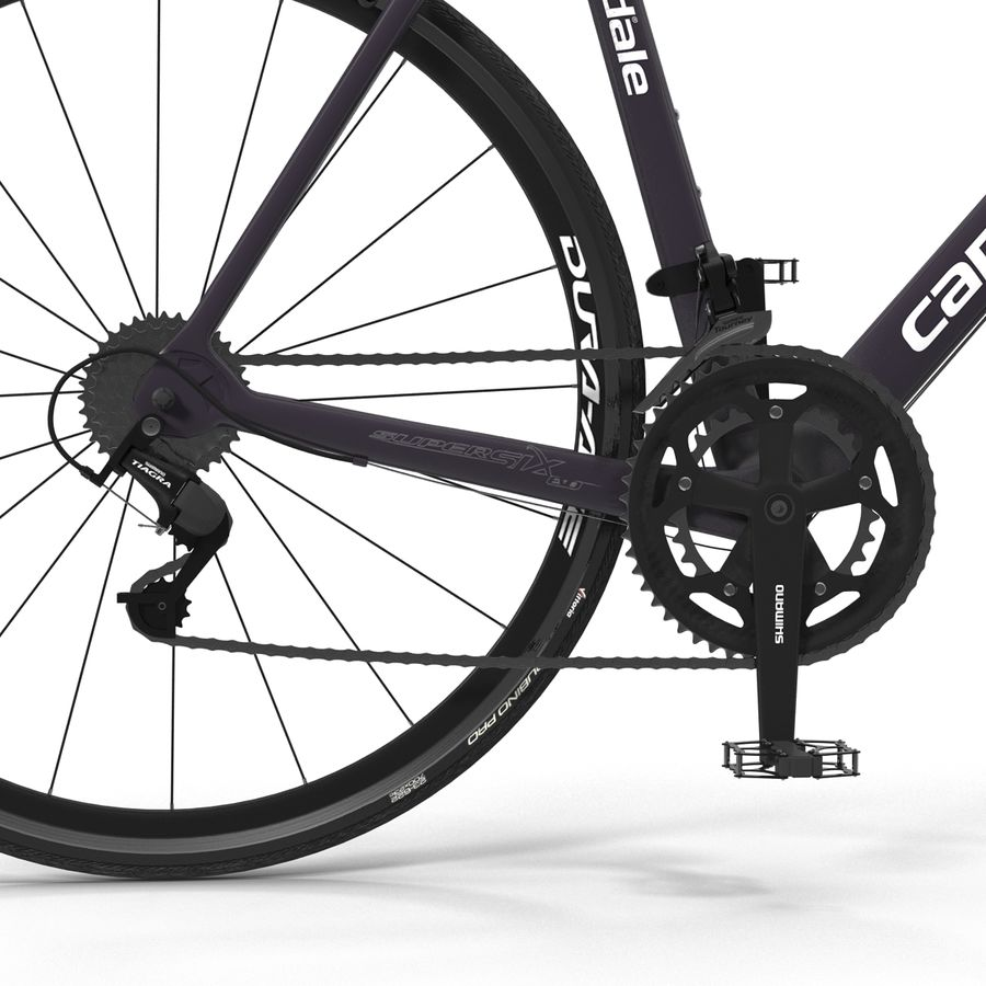 Road Bike Cannondale royalty-free 3d model - Preview no. 22