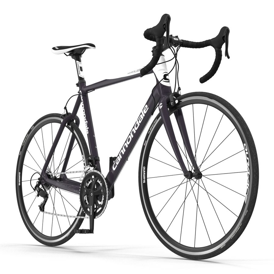 Road Bike Cannondale royalty-free 3d model - Preview no. 3