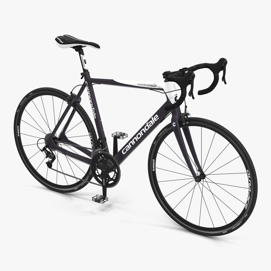 Road Bike Cannondale royalty-free 3d model - Preview no. 1