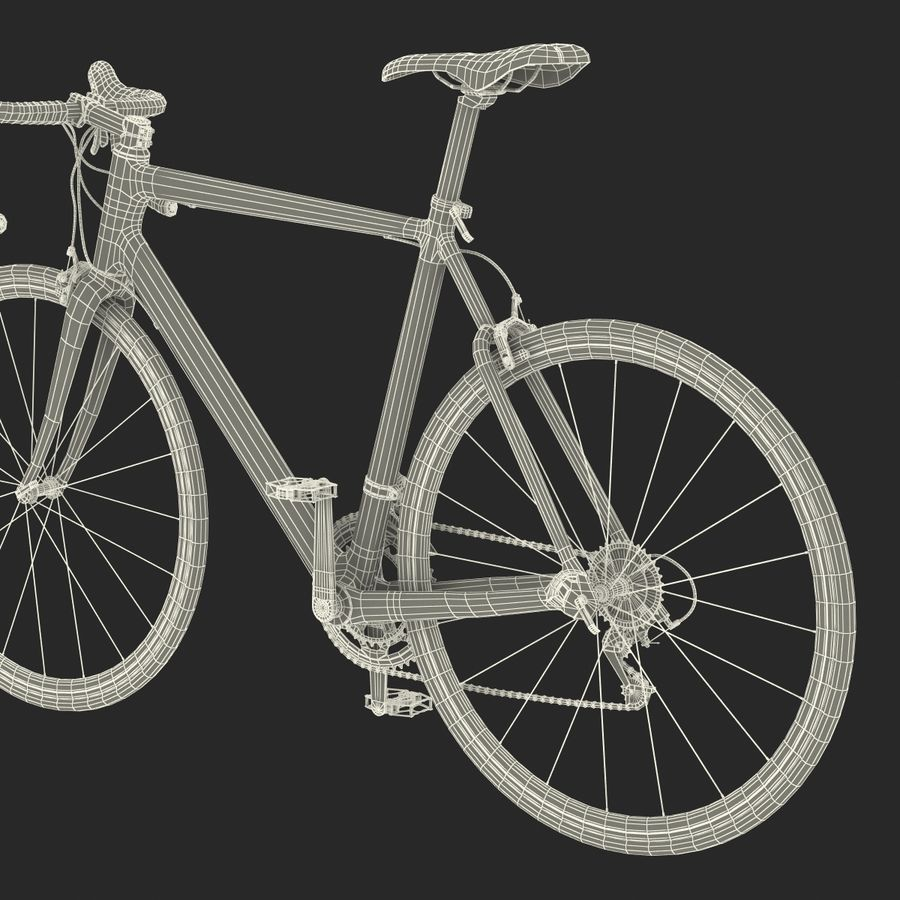 Road Bike Cannondale royalty-free 3d model - Preview no. 46