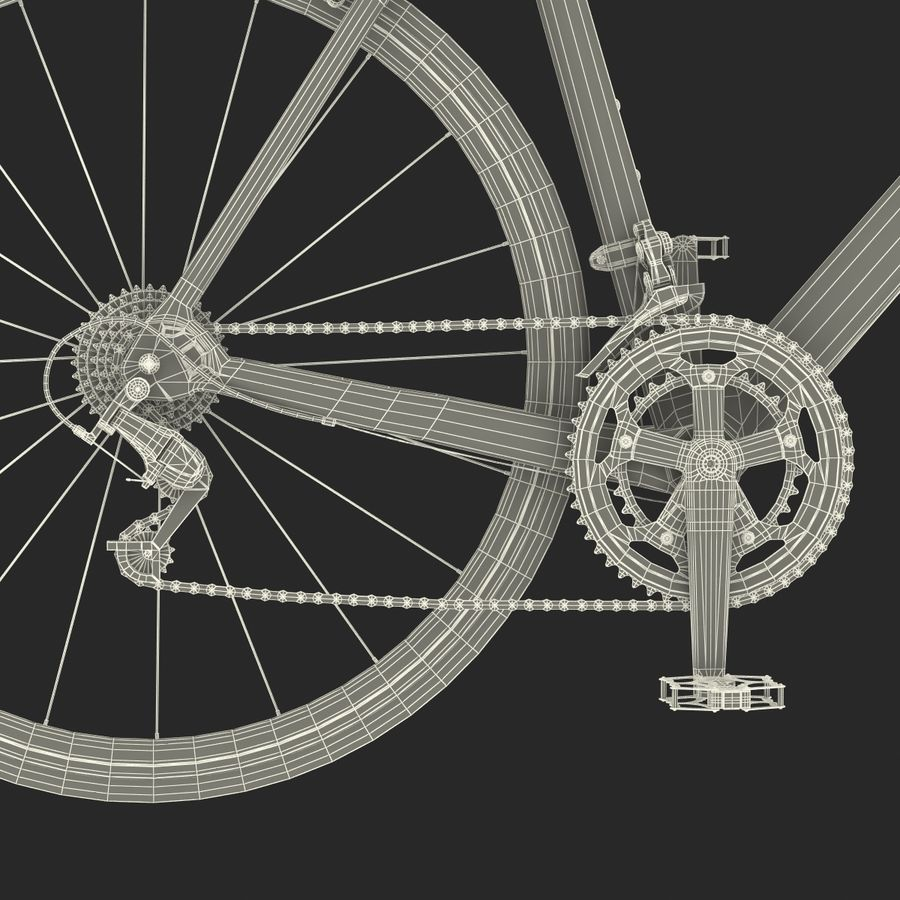 Road Bike Cannondale royalty-free 3d model - Preview no. 47