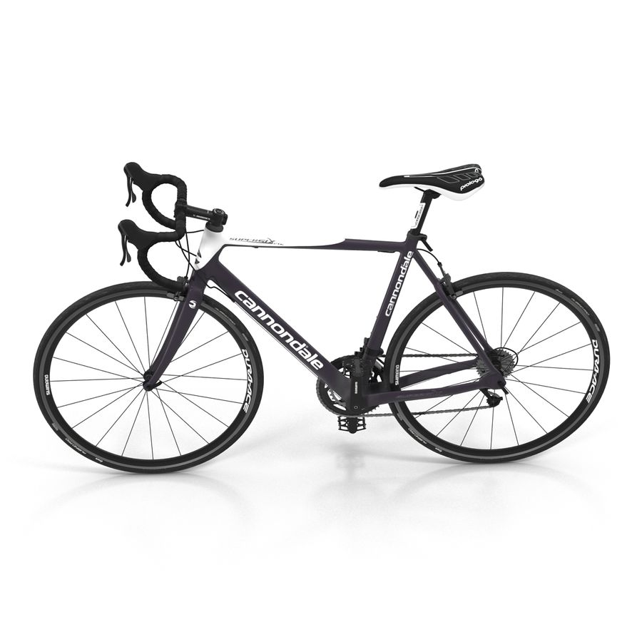 Road Bike Cannondale royalty-free 3d model - Preview no. 11