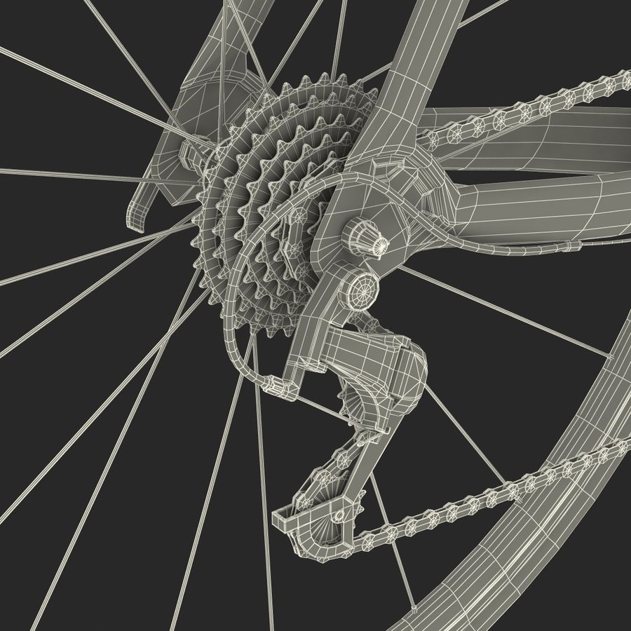 Road Bike Cannondale royalty-free 3d model - Preview no. 53