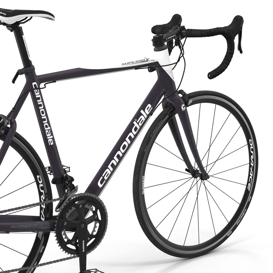 Road Bike Cannondale royalty-free 3d model - Preview no. 21