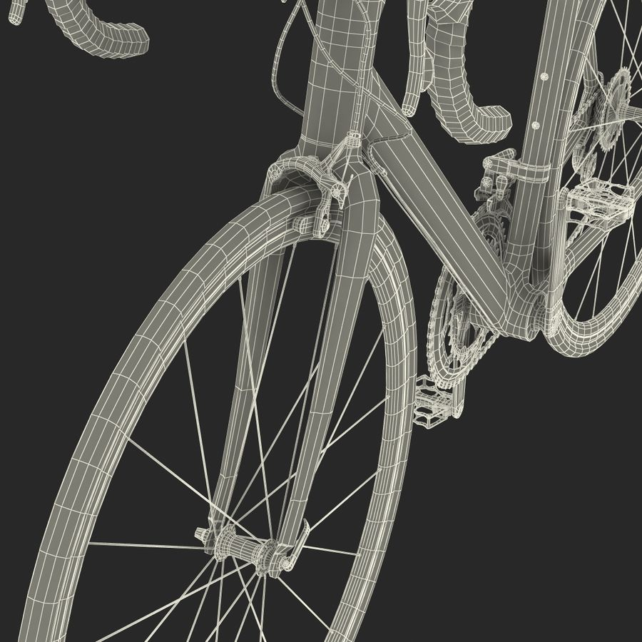 Road Bike Cannondale royalty-free 3d model - Preview no. 48
