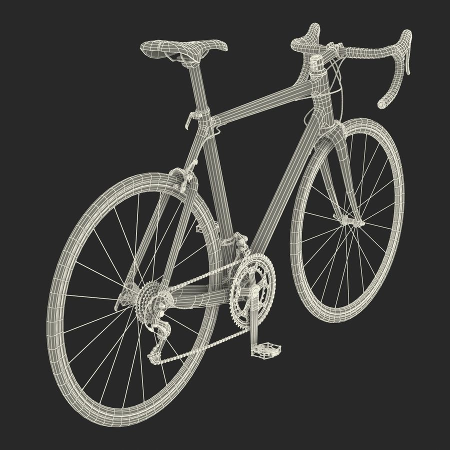 Road Bike Cannondale royalty-free 3d model - Preview no. 42