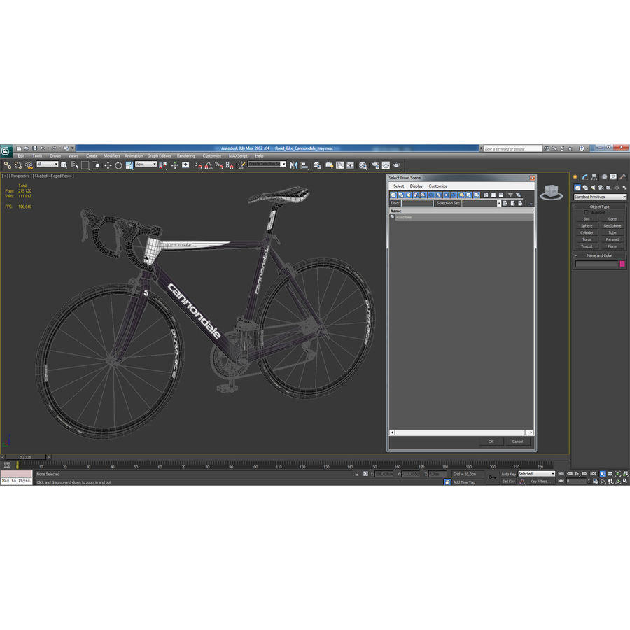 Road Bike Cannondale royalty-free 3d model - Preview no. 39