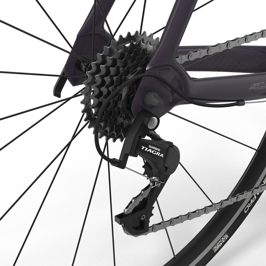 Road Bike Cannondale royalty-free 3d model - Preview no. 29