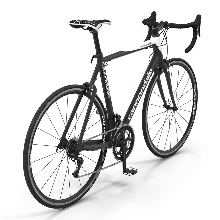 Road Bike Cannondale royalty-free 3d model - Preview no. 9