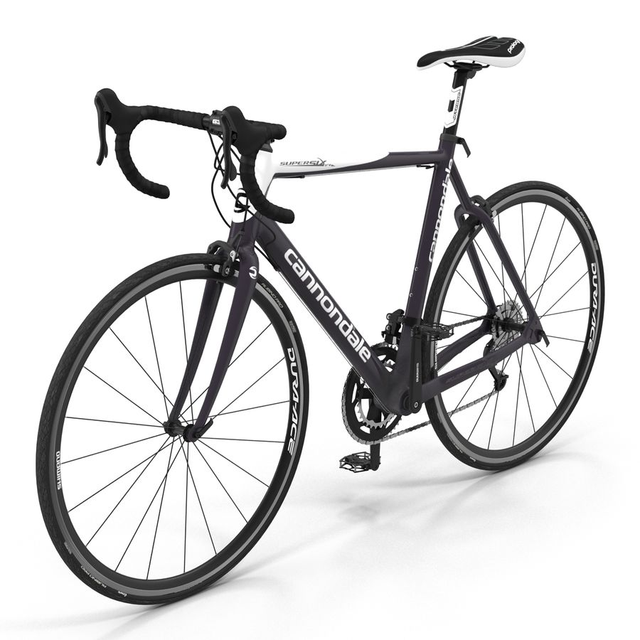 Road Bike Cannondale royalty-free 3d model - Preview no. 7