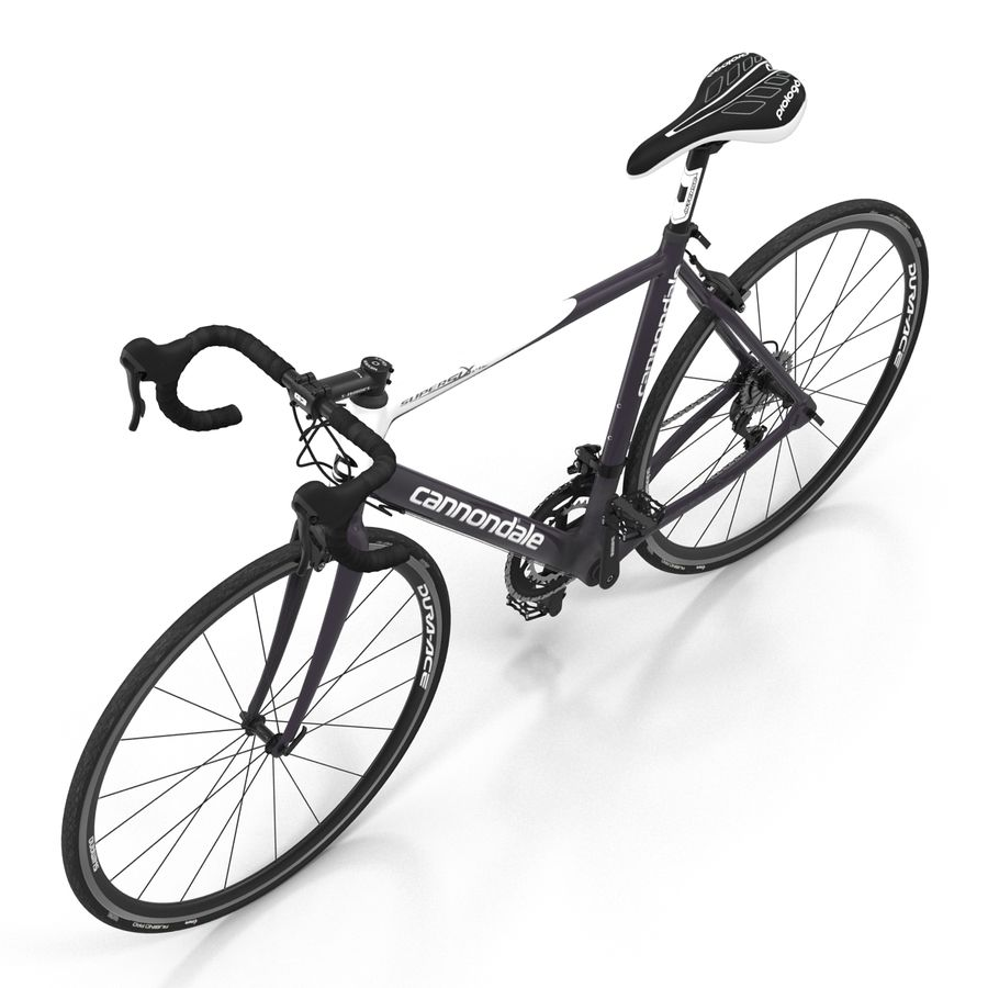 Road Bike Cannondale royalty-free 3d model - Preview no. 14