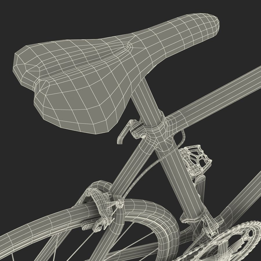 Road Bike Cannondale royalty-free 3d model - Preview no. 50