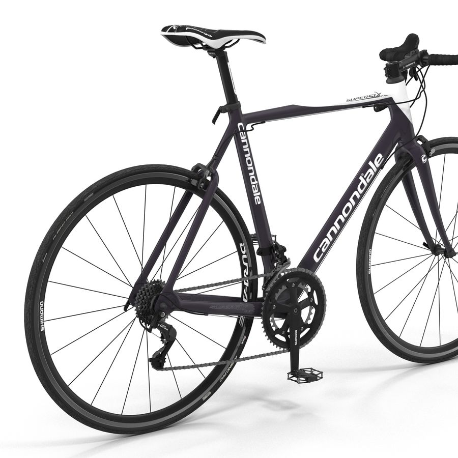 Road Bike Cannondale royalty-free 3d model - Preview no. 19