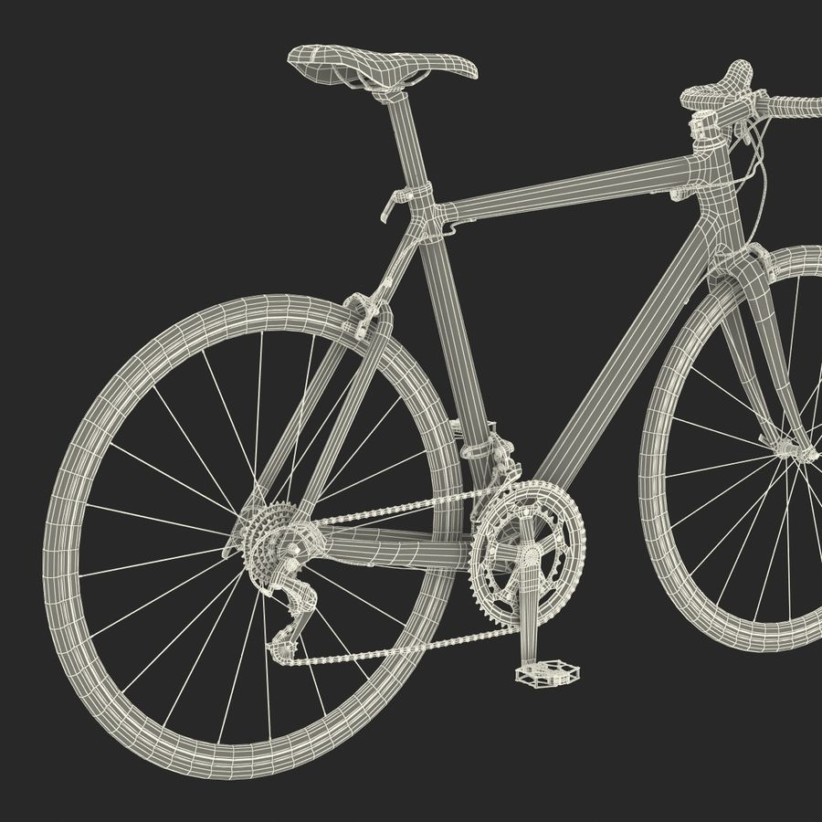 Road Bike Cannondale royalty-free 3d model - Preview no. 45