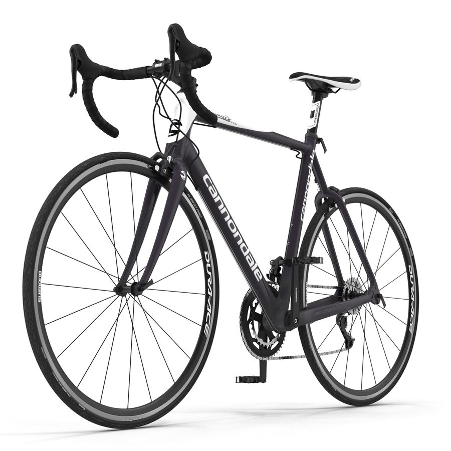 Road Bike Cannondale royalty-free 3d model - Preview no. 4