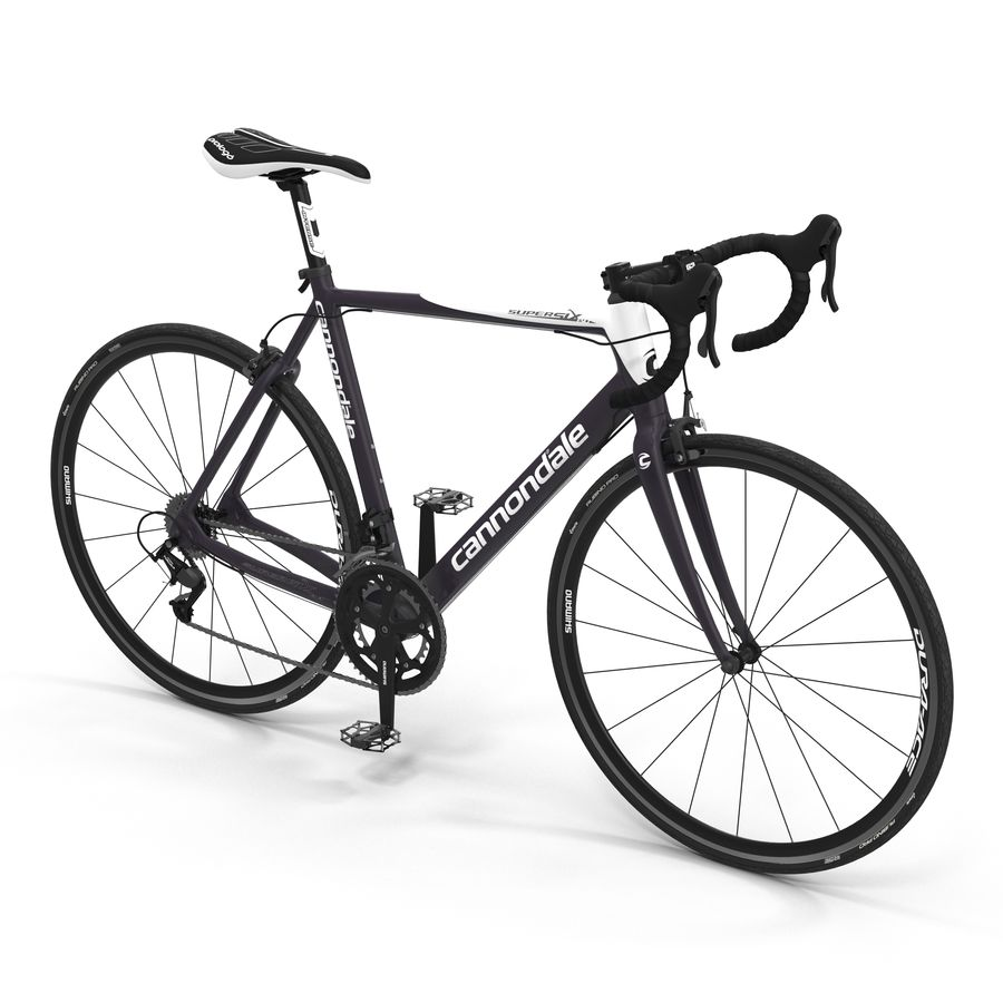 Road Bike Cannondale royalty-free 3d model - Preview no. 2