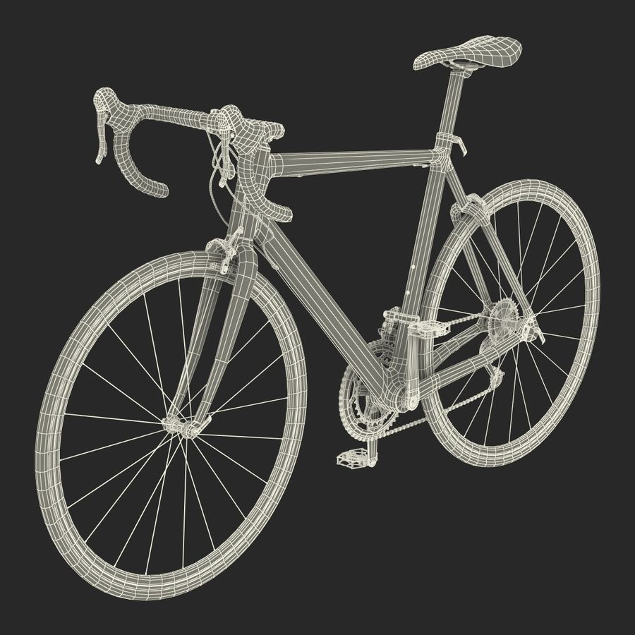 Road Bike Cannondale royalty-free 3d model - Preview no. 40