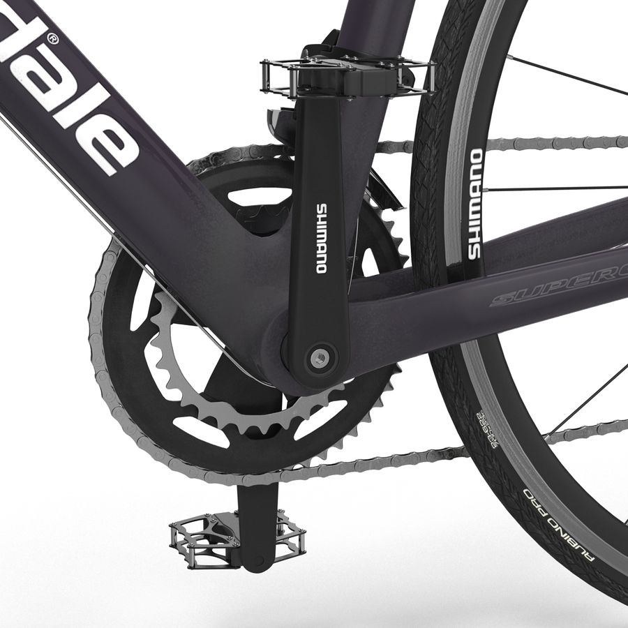 Road Bike Cannondale royalty-free 3d model - Preview no. 28