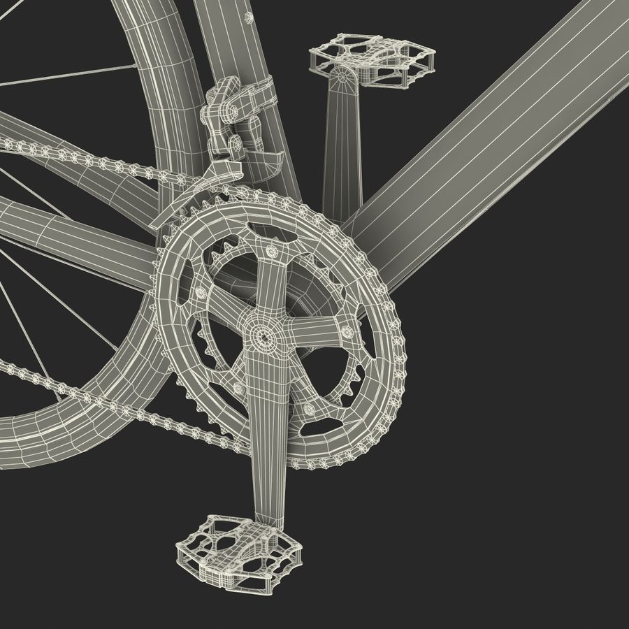Road Bike Cannondale royalty-free 3d model - Preview no. 51
