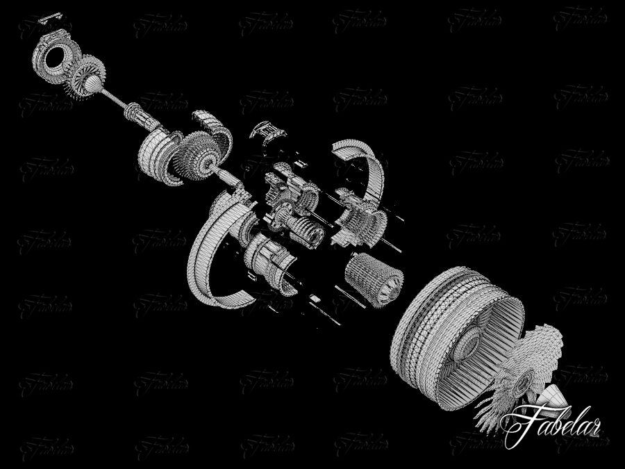 Motor a jato royalty-free 3d model - Preview no. 11