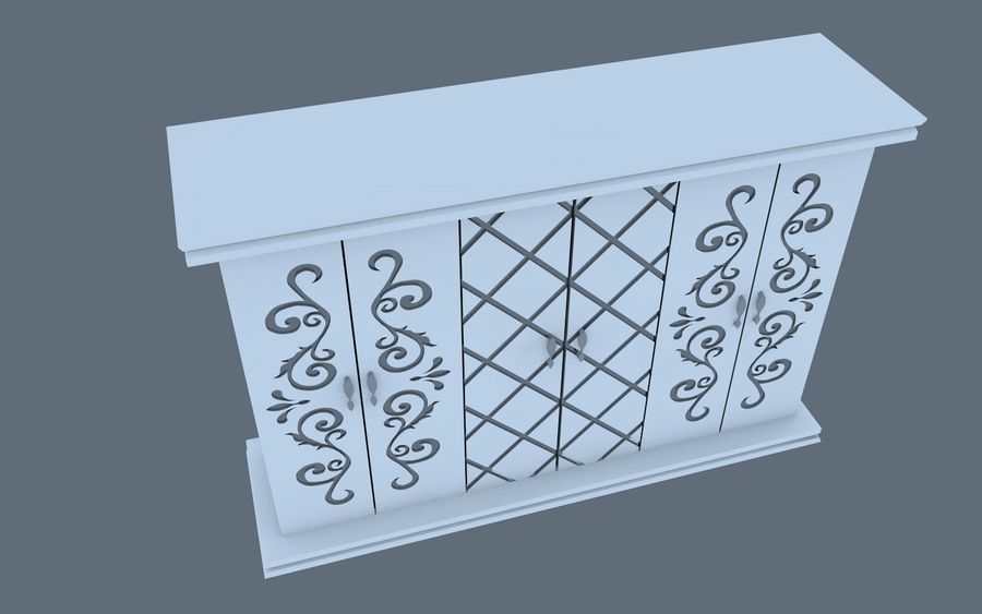 garderobe royalty-free 3d model - Preview no. 4