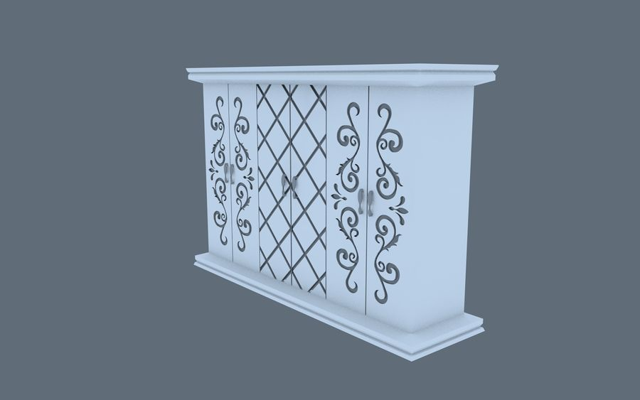 garderobe royalty-free 3d model - Preview no. 3