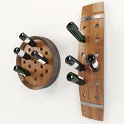 Baril porte-bouteilles 3d model