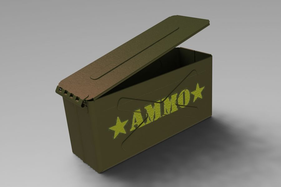 Ammo Box royalty-free 3d model - Preview no. 4