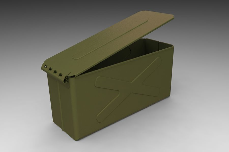 Ammo Box royalty-free 3d model - Preview no. 8