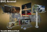 Versatile Billboard Pack 02 3d model