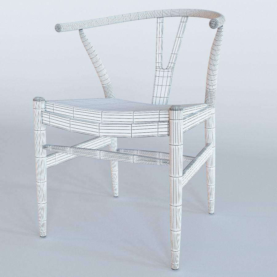 椅子叉骨皮革 royalty-free 3d model - Preview no. 3