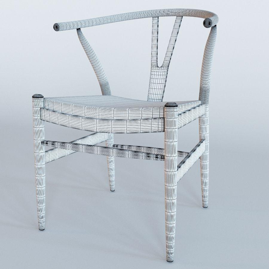 椅子叉骨皮革 royalty-free 3d model - Preview no. 2