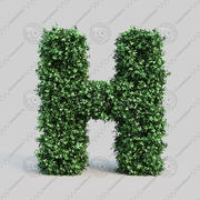 黄雀字母表H 3d model