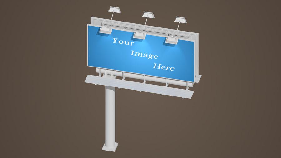 Publicité sur panneau d'affichage royalty-free 3d model - Preview no. 3