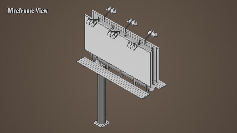 Publicité sur panneau d'affichage royalty-free 3d model - Preview no. 5