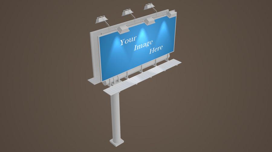 Publicité sur panneau d'affichage royalty-free 3d model - Preview no. 2