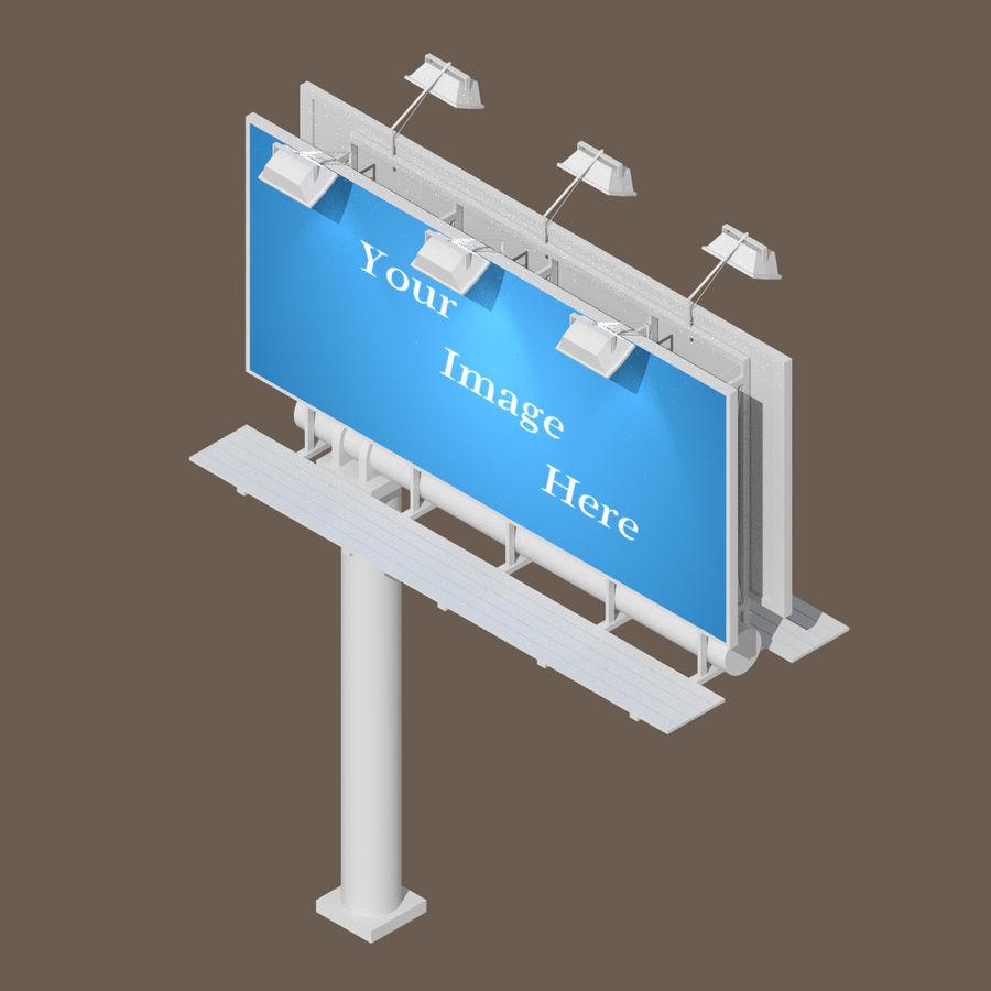 Publicité sur panneau d'affichage royalty-free 3d model - Preview no. 1