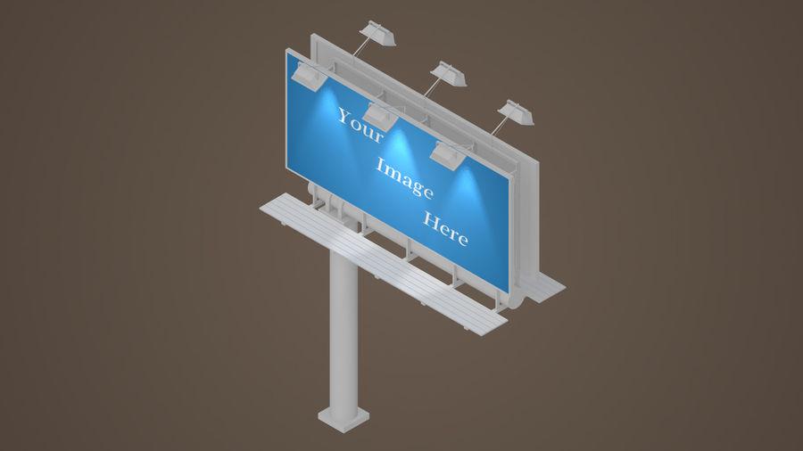 Publicité sur panneau d'affichage royalty-free 3d model - Preview no. 4