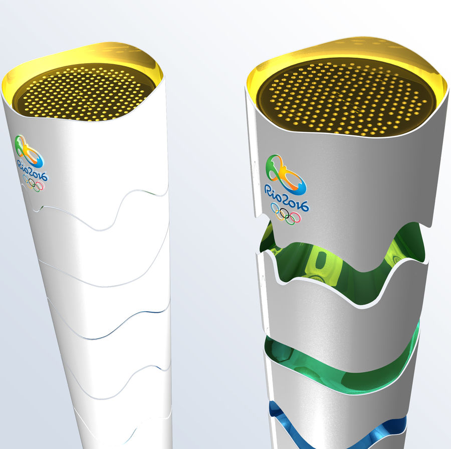 2016年火炬巴西奥运会 royalty-free 3d model - Preview no. 2