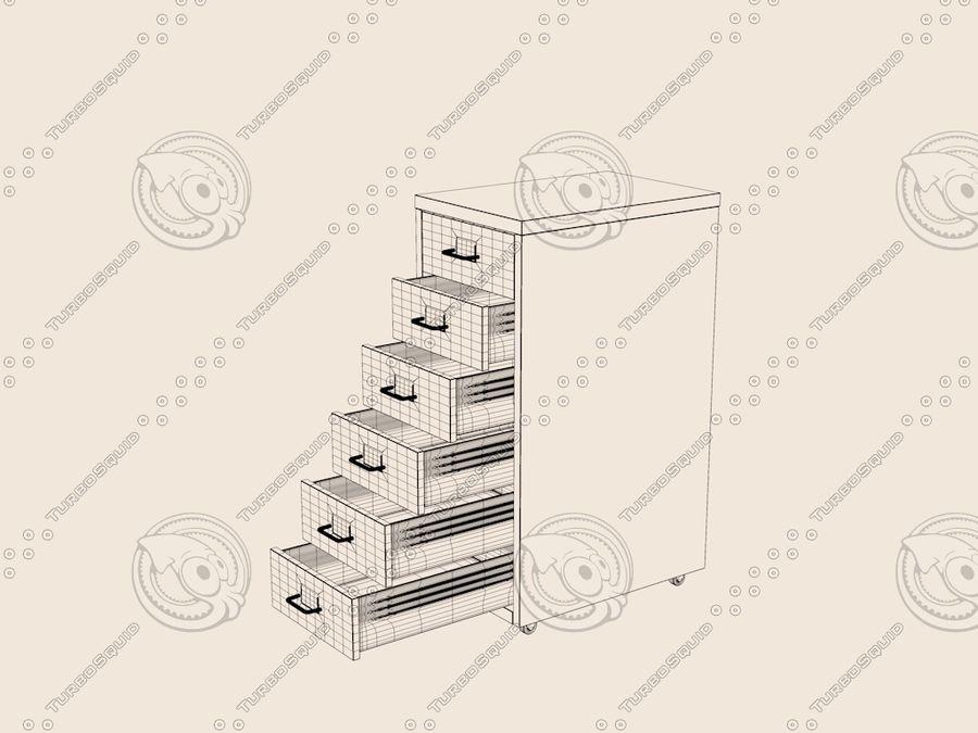 IKEA Helmer - Kontorslådan på hjul royalty-free 3d model - Preview no. 6