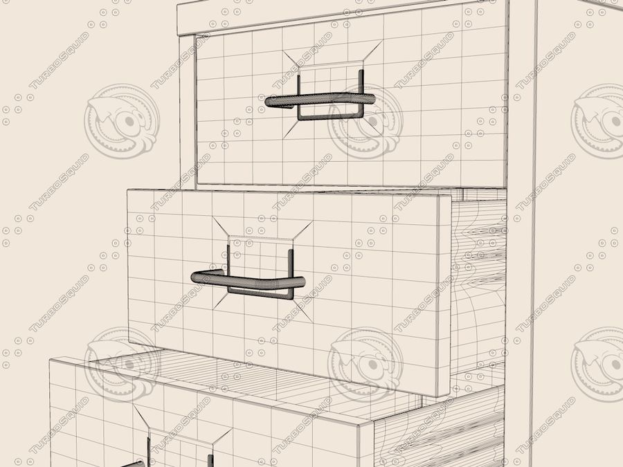 IKEA Helmer - Kontorslådan på hjul royalty-free 3d model - Preview no. 7